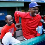 Texas Rangers Manager Ron Washington And His Mini Me