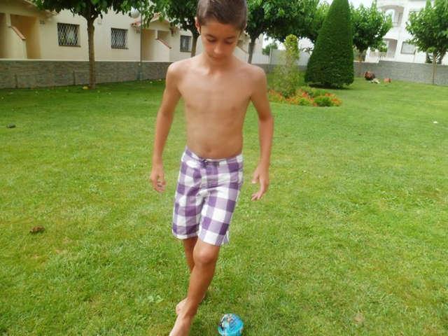 Boy Playing Soccer