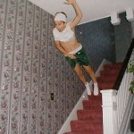 Boy Stair Diving