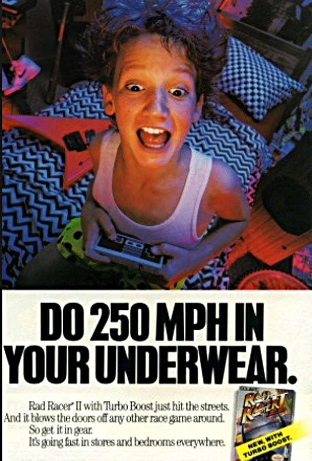 Nintendo Ad Boy In Boxers Doing 250 MPH