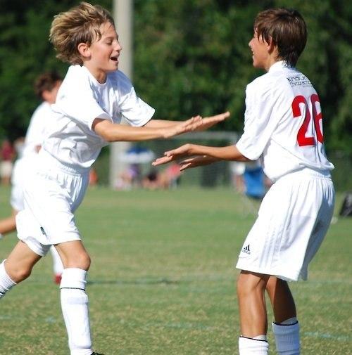 Kids On Soccer Field
