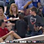 boy gives girl fake game ball