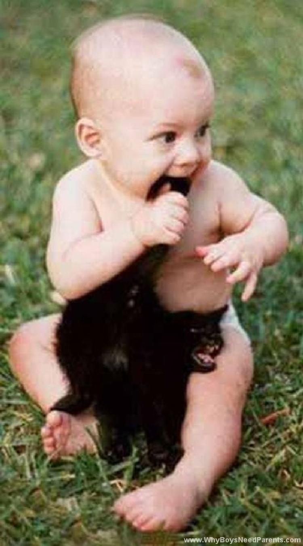 Boy Bites Cat